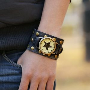 Other - Punk Style Vintage Leather Mens Watch